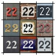 Numbers Twenty-two — Stock Photo