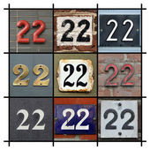 Numbers Twenty-two — Foto Stock