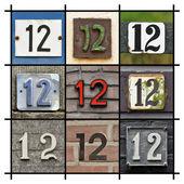 Twaalf nummers — Stockfoto
