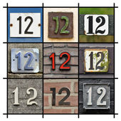 čísla dvanáct — Stock fotografie