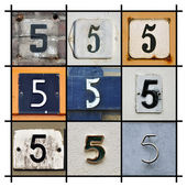 Numbers Five — Stock Photo