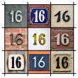 House Numbers Sixteen — Stock Photo #11812632