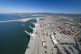 The Oakland Outer Harbor Aerial — Stock Photo