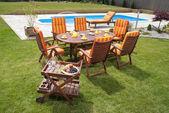 Bahçe mobilyaları — Stok fotoğraf