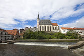 Cesky Krumlov the Church — 图库照片