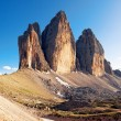 Alpine dolomit - Tre Cime mountain - 图库照片