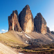 Alpine dolomit - Tre Cime mountain - Stock Photo