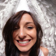 Funny angel wings portrait — Stock Photo