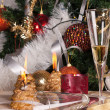 Christmas eve celebration — Stock Photo