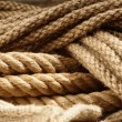 Fiber ropes closeup — Stock Photo
