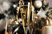 Champaña esperando por navidad — Foto de Stock