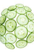 Fisheye green cucumber — Stock Photo