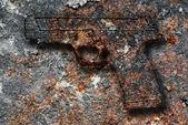 Rusty gun — Stock Photo