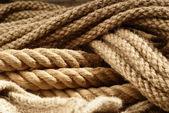 Vezel touwen close-up — Stockfoto