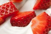 Vanilla strawberry — Stock Photo