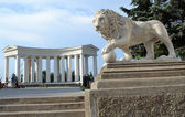 Colonnade on the embankment of Odessa. — Stock Photo