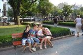 关于城市街道在敖德萨 — 图库照片