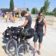 Stock Photo: Bicycle run: 1000 kilometers in one week...