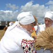 zazhinki - the belarusian holiday of the beginning of a harvest. — Stock Photo