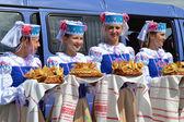 Zazhinki - las vacaciones bielorruso del principio de una cosecha. — Foto de Stock