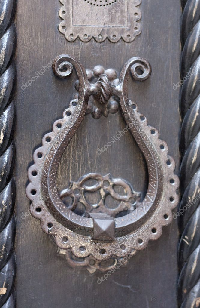 Closeup of antique door handle.  — Stock Photo #12386771