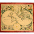 Stock Photo: Old world map