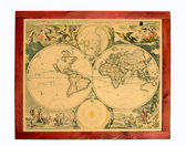 Old world map — Stockfoto