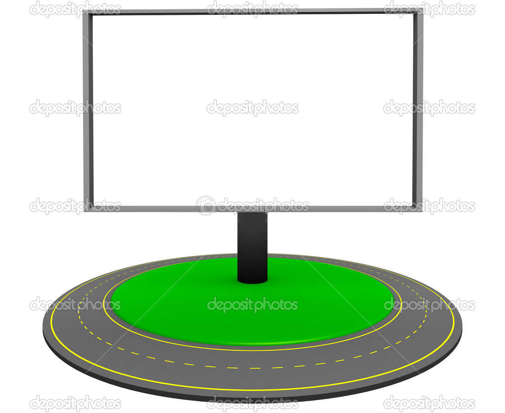 Billboard and roundabout route — Stock Photo #10943261