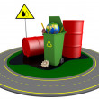 Stock Photo: Garbage and roundabout route