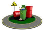 Garbage and roundabout route — Stock Photo