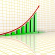 Arrowed business chart — Stock Photo