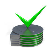 Hard disk drive icon — Stock Photo