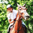 A rider on horseback — Stock Photo