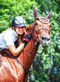 A rider on horseback — Stock Photo