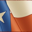 Vintage Texas Flag (close-up) — Stock Vector
