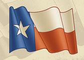 Vintage texas bayrağı — Stok Vektör