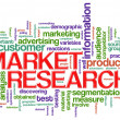 Word tags market research — Stok fotoğraf