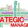 Strategic management word tags — Stock Photo
