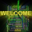 Wordcloud welcome — Stock Photo