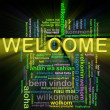 Wordcloud welcome — Stok fotoğraf