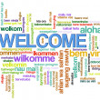 Welcome word tags - Stock Photo
