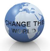 Change the world — Stock Photo