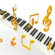 Golden superhit music — Stock Photo