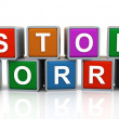 Stock Photo: 3d Stop worry