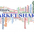 Market share tags — Stock Photo