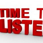 3d man - time to listen — Stock Photo #11559897