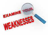 Examine your weaknesses — Stock Photo