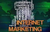 Internet marketing tagi — Zdjęcie stockowe