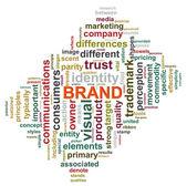 Brand wordcloud — Stock Photo
