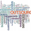 Wordcloud of outsourcing — Stock Photo